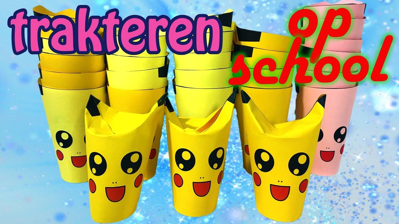 Trakteren Op School Schattige Pikachu Pokemon Traktatie Voor