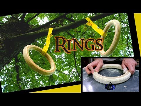 Making homemade gymastic rings from wood