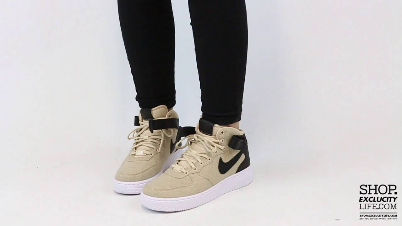 low priced 37763 ccca5 Women s Air Force 1 Mid Vachetta Tan On feet Video at Exclucity