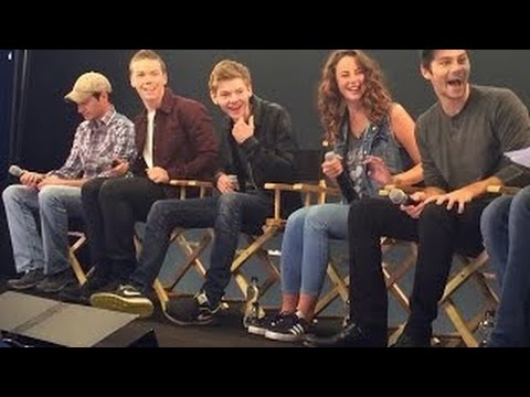 The Maze Runner Cast Interview with Will Poulter, Kaya Scodelario, Thomas Sangster, Dylan