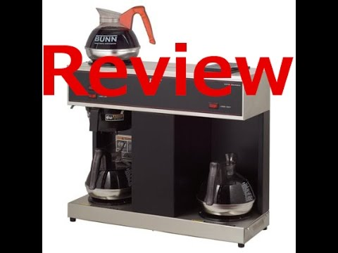 Buy BUNN VPS 12 Cup Pourover Commercial Coffee Brewer with 3 Warmers - YouTube