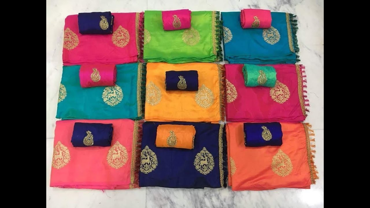 9a7eeaa9feb67 Latest Sana silk sarees with latest embroidary blouse designs