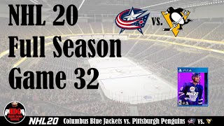 GREATEST GAME EVER!!! NHL 20 Game 32 - Columbus Blue Jackets vs. Pittsburgh Penguins