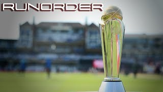 Run Order - Should there be another Champions Trophy?
