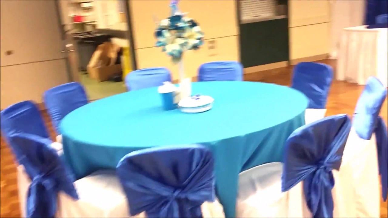 Faos events decoracion bautizo azul roya y azul turquesa for Decoracion salon gris y turquesa