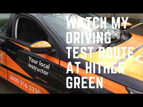 Hither Green Driving Test Route Test 11 January 2019 3.02pm J2