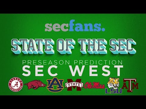 2018 SEC West Preview & Preseason Rankings And Prediction