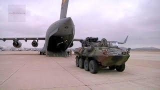 LAV-25 Loading & Unloading With C-17 Globemaster