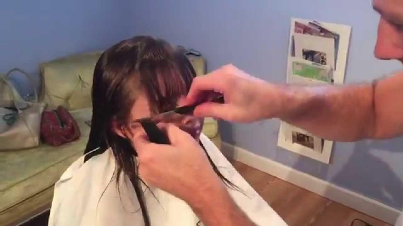 Corte De Flequillo Para Ninas Tecnica Youtube