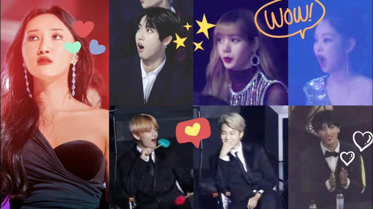 Idols/Artists react to MAMAMOO (마마무) Hwasa (화사)'s moments at Year-End Awards | #OurSummerHwasa