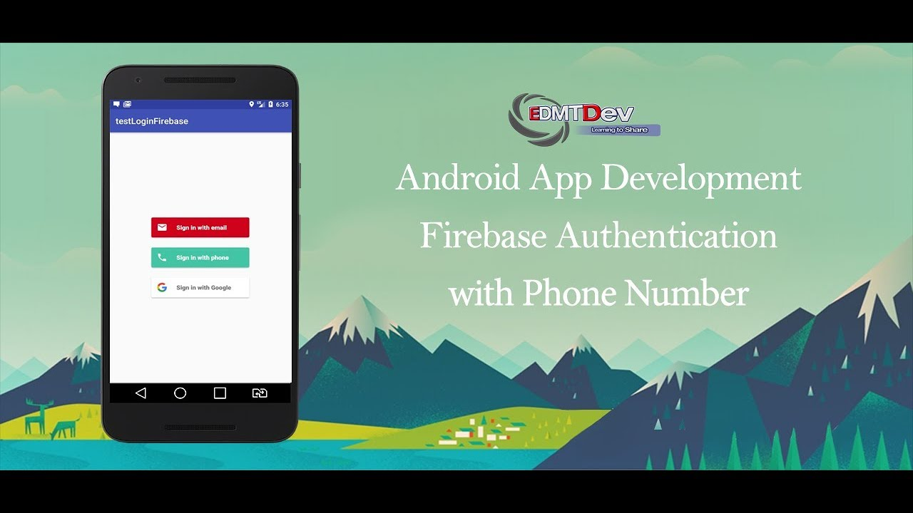Android Studio Tutorial - Firebase Authentication with Phone Number