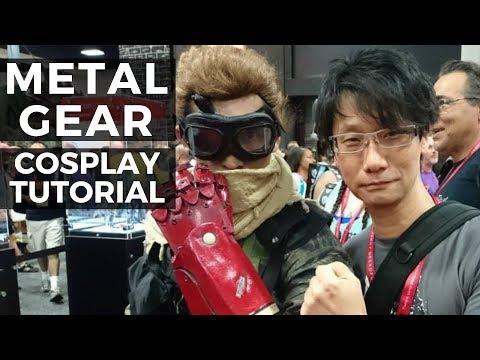 Tutorial: Metal Gear Solid V The Phantom Pain Cosplay - Venom Snake Make-up, Horn, and Scarf -