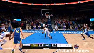 "NBA Oklahoma City Thunder vs Golden State Warriors - ""Goodnight Golden State"" - NBA Live 14 PS4 - HD"
