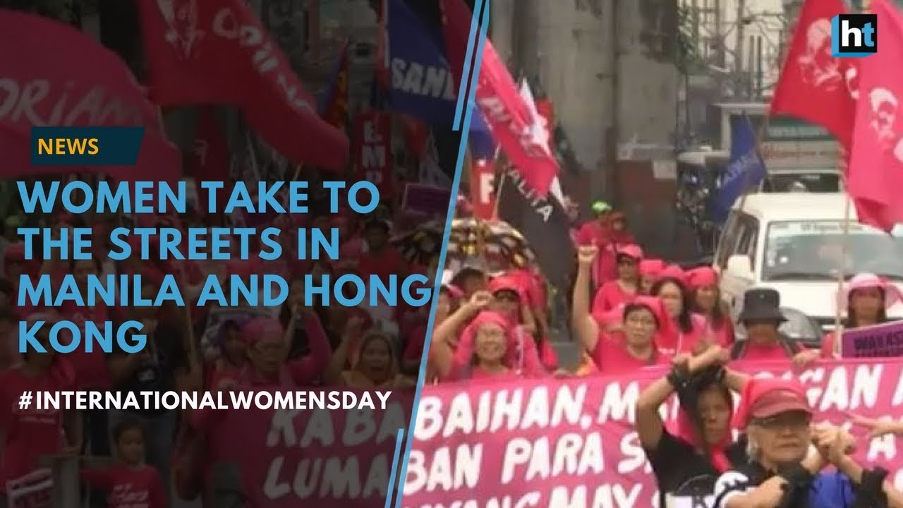 Women march on the streets of Manila and Hong Kong #InternationalWomensDay