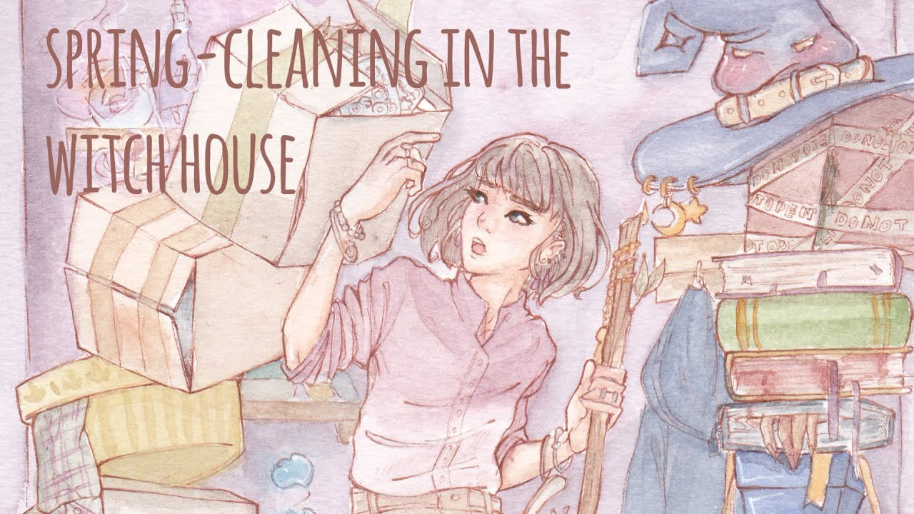 spring-cleaning in the witch house ~ illustration