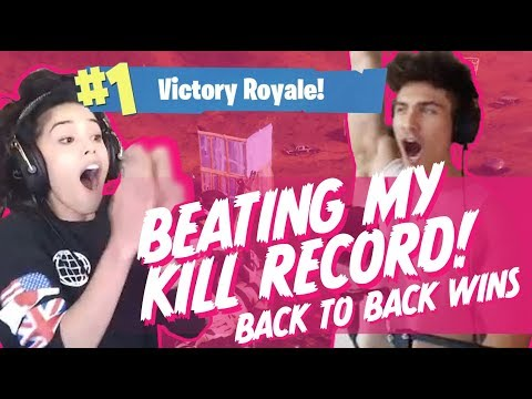 New Kill Record! Couple Duo WINS x2! Valkyrae and Sonii Fort