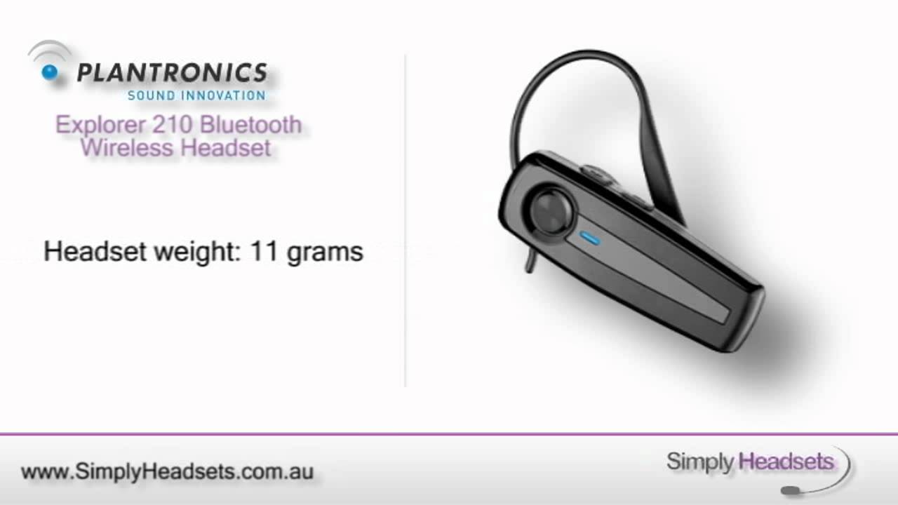 plantronics explorer 210 bluetooth wireless headset video overview rh youtube com Plantronics Pro Plantronics Bluetooth Explorer 232