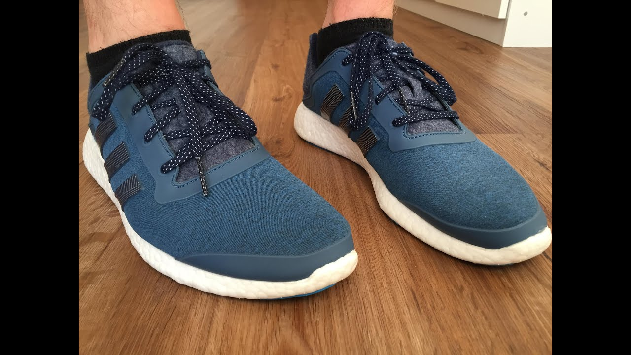 adidas pure boost 1 0 running on feet youtube. Black Bedroom Furniture Sets. Home Design Ideas