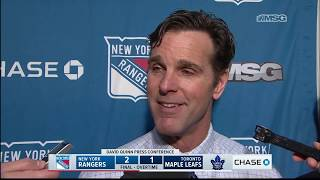 David Quinn: This Win Says a Lot About Our Character | New York Rangers Post Game
