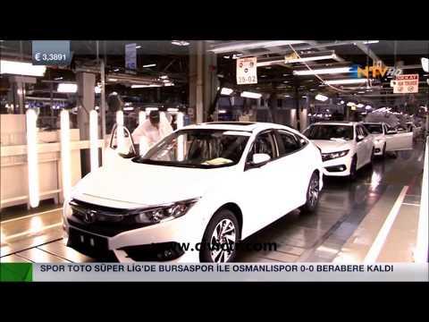Yeni Honda Civic +2016 FC5 Honda Türkiye üretim Bandı NTV