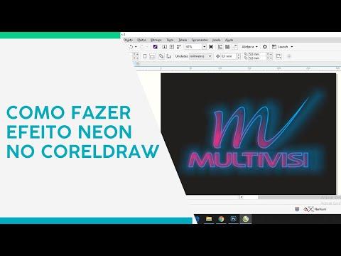 Visutec | Tutorial | Como fazer efeito neon no CorelDraw