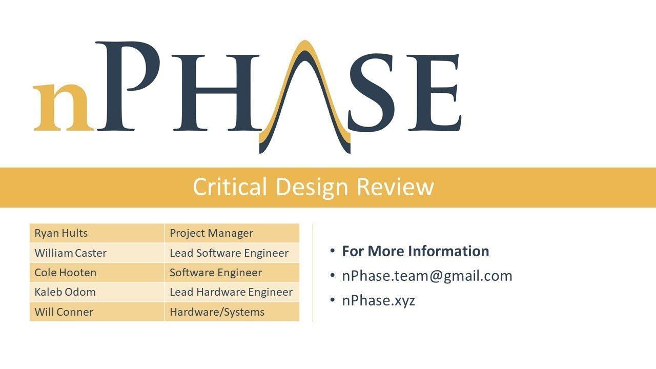 Critical Design Review Presentation Youtube