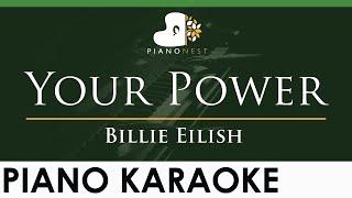 Billie Eilish - Your Power - LOWER Key (Piano Karaoke Instrumental)