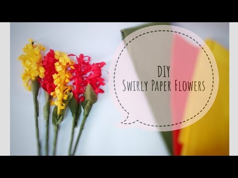 Swirly Paper Flowers, easy n quick paper flowers, DIY, fall decor