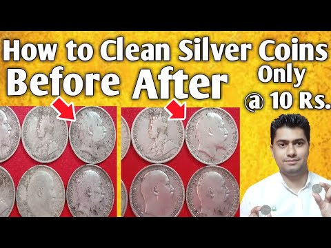 How to Clean Old Coins Only @ 10 Rupees | Cheapest Way to Clean Old Silver Coins at Home.