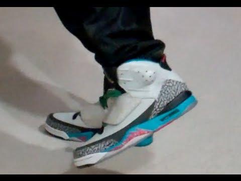 quality design d7a1a 7ebcf Shoe pickup   on feet  Jordan Son of Mars Pop Art Colorway - YouTube