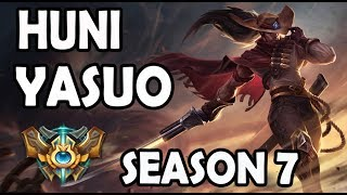 SKT T1 Huni Yasuo vs Nautilus TOP Ranked Challenger Korea