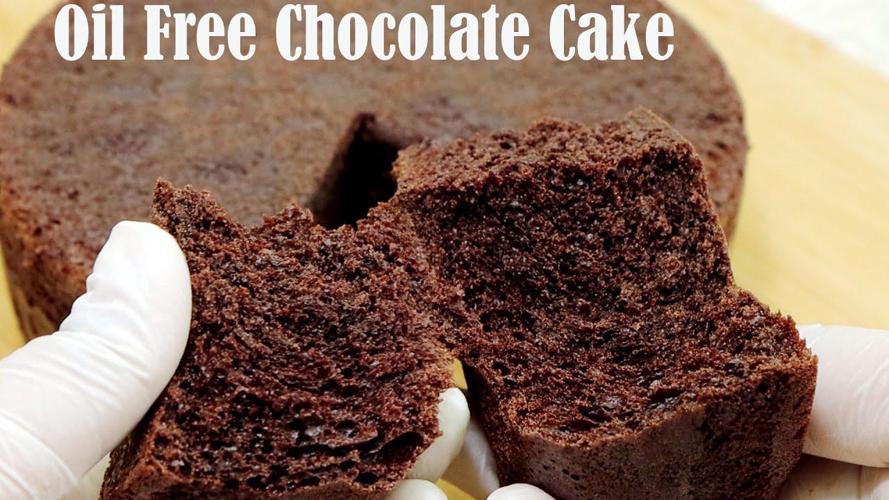 OIL FREE CHOCOLATE CAKE RECIPE – HOW TO MAKE CHOCOLATE CAKE – EGGLESS CHOCOLATE CAKE