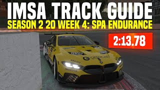 iRacing | IMSA Track Guide - Spa (Week 4 Season 2 2020)