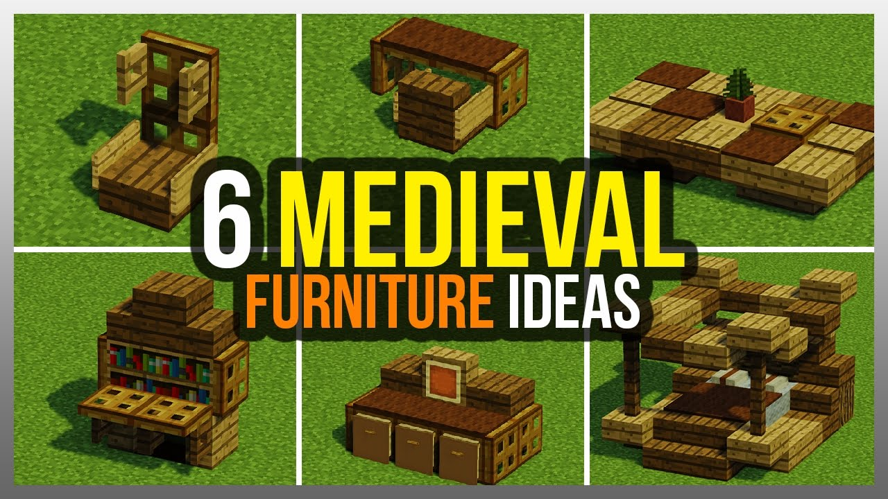 Furniture in minecraft latest here are some bookshelves for Medieval living room furniture