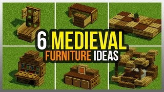✔️ 6 Medieval Furniture Ideas! Minecraft YouTube