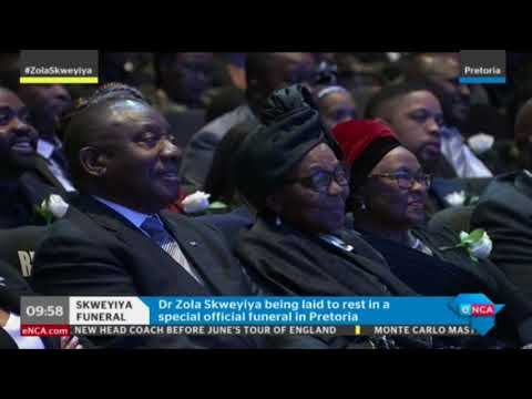Wilson Nqose pays tribute to Zola Skweyiya on behalf of ANC Veterans