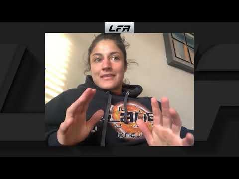 Lupita Godinez talks to Ron Kruck (LFA 94)