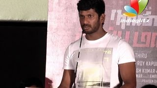 Why Vishal is protective about Lakshmi Menon | Naan Sigappu Manithan Team in Audio Launch