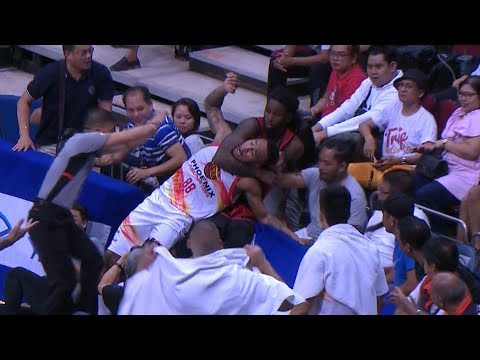 Calvin Abueva-Kevin Murphy SCUFFLE (FULL VIDEO)