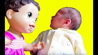 Baby Alive Play ❤ DATE ❤ Baby BOY ELI Newborn Baby Funny Doll Parody Toy Babies Alive Video