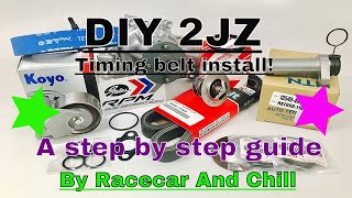 DIY IS300 2JZ Timing belt. Detailed Step By Step Tutorial. Maintenance for your Lexus or Toyota.