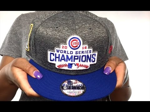 Cubs  2016 WORLD SERIES CHAMPS PATCH SNAPBACK  Grey-Black Hat by New ... ec6763dac4b