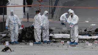 Xe chứa bom phát nổ ngoài Ngân hàng Trung ương Athens