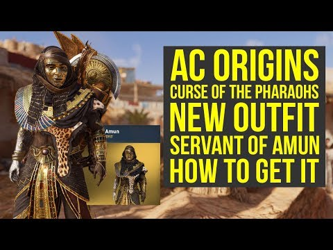 Assassin's Creed Origins Curse of the Pharaohs NEW OUTFIT - Servant Of Amun (AC Origins Outfits) thumbnail