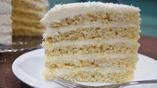 Торт Рафаэлло с творогом(Торт Рафаэлло - это легкий и вкусный десерт, с творогом и кокосовой стружкой. Приготовить этот тортик в дома..., 2016-01-14T16:30:07.000Z)