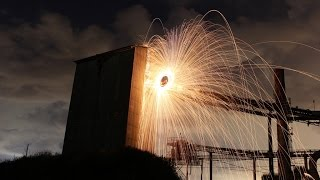 Steel Wool in an Abandoned Factory (+Giant Fireballs!)