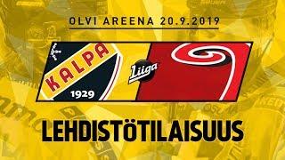 Lehdistötilaisuus, KalPa - JYP, 20.9.2019