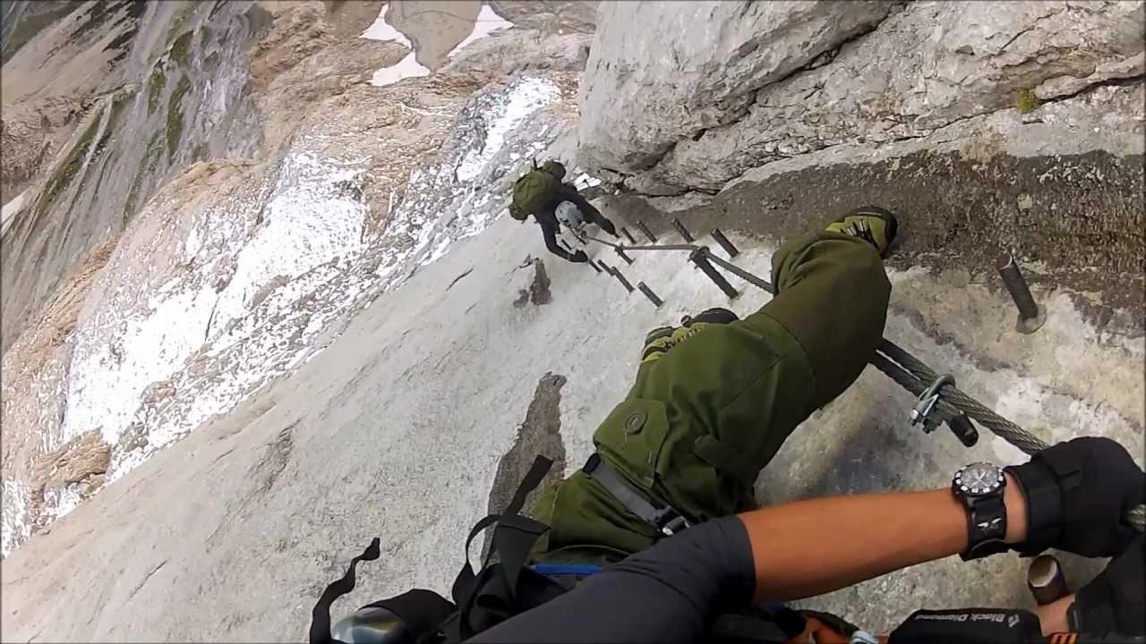 Klettersteig Johann : Johann klettersteig dachsteinsüdwand hd youtube