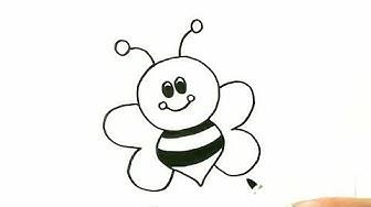 Как лесно да нарисуваме пчеличка? Пчеличка! Рисуване! Лесни рисунки за деца!