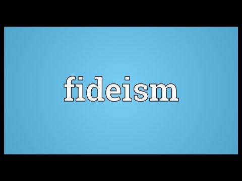 Header of fideism